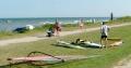 Surfbretter an der Bootszone