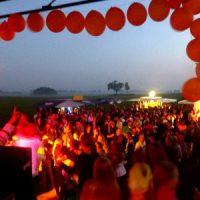 Blick von der Bühne bei der Pfingstparty